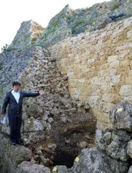 Early 14th century castle wall discovered at Nakagusuku Castle, predating previously accepted historical timelines