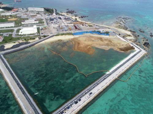 Expert claims no previous reinforcement of soft ground 90 meters below sea level, the depth found in Henoko construction area