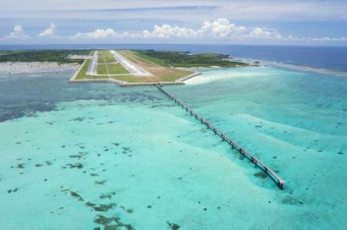 Miyakojima's first ever international route to connect Shimoji-shima in Okinawa and Hong Kong, set to make three rounds trips per week, expected to carry 28,000 people per year