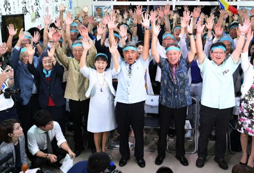 Tomohiro Yara wins Okinawa No. 3 district Lower House by-election with platform opposing new Henoko base
