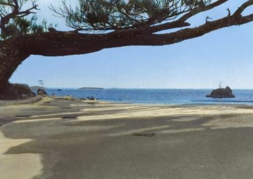 Shimabukuro's photography of 1950's Henoko sans US base shows changes to his hometown
