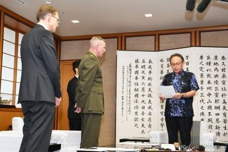 Okinawa Governor protests fatal incident involving U.S. solider, resulting in local apprehension
