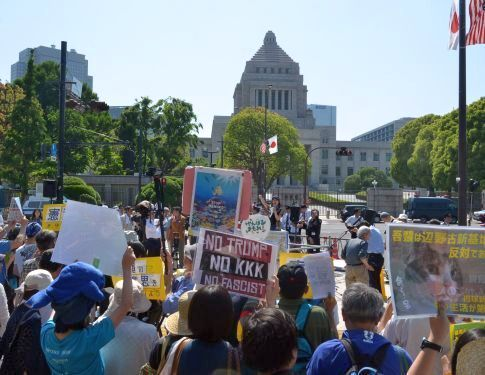 """NO Henoko"": Protesters rally across 32 prefectures, five thousand at Diet"