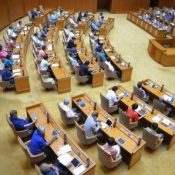 Okinawa Assembly unanimously adopts resolution protesting U.S. military fallen parts incidents