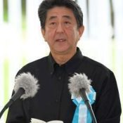 Battle of Okinawa memorial-goers say prime minister's speech does not resonate