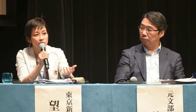 """Political monitoring is the job of the media"" Isoko Mochizuki and Kihei Maekawa reveal the inner workings of the prime minister's office and the media at symposium for the opening of the new movie ""Shimbun Kisha"""