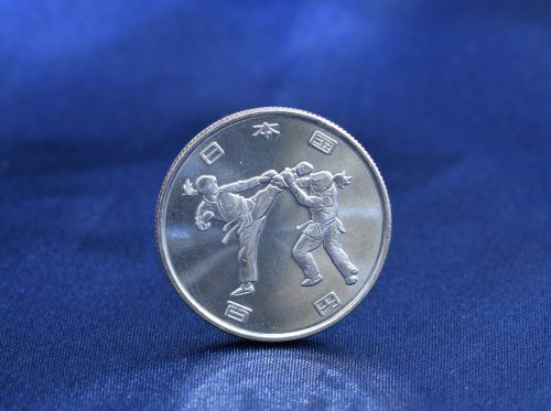 Japan's 100-yen coin gets a special Karate design commemorating the upcoming Tokyo Olympics