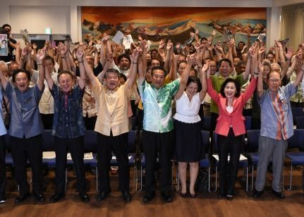 Base-Opposing Takara wins House of Councillors Election, bolstering the momentum of Okinawa's anti-base contingent