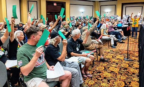 Resolution proposal demanding U.S. government perform Oura Bay survey adopted at Veterans for Peace convention
