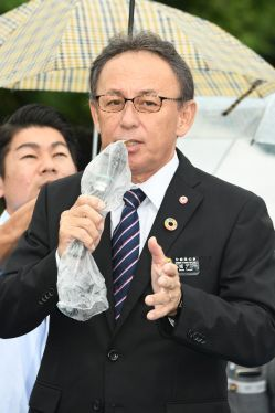 "Governor Tamaki, ""The central government is masquerading as a 'private individual'"" in lawsuit surrounding permission for land reclamation at Henoko"