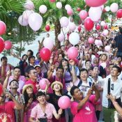 "Toward a colorful society: ""Pink Dot"" LGBTQ+ event held in Naha"