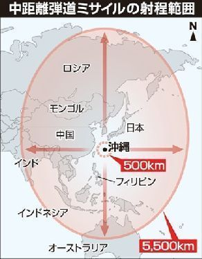U.S. informs Russia of plans to deploy intermediate-range missiles to Okinawa in the next two years, worrying some that the base burden will increase significantly