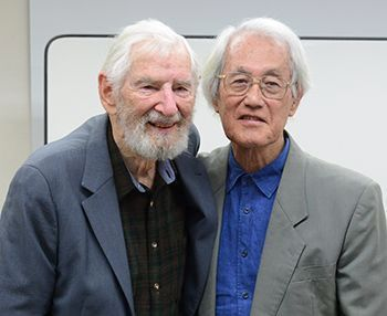 A pastor who criticized U.S. military during High Commissioner inauguration during U.S. rule of Okinawa has 50-year anniversary with American missionary colleague. What did the two have to say about the current state of affairs in Okinawa?