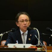 Governor Tamaki states intent to restore Shuri Castle as soon as possible after disastrous fire