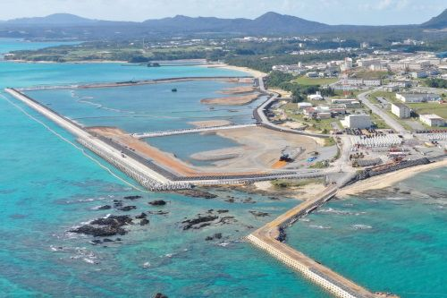 Ministry of Defense postpones two Henoko-related construction projects to focus on soft ground in Henoko Bay