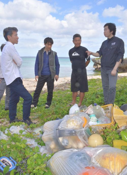 Ryukyu University using drones, satellites and fixed cameras to clean up ocean garbage
