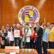 Kin and Honolulu sign a friendship agreement on the 120-year anniversary of Okinawans first emigrating from Okinawa to Hawaii