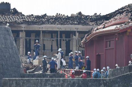 Shuri Castle fire investigation 'inconclusive', Okinawa Police Department says