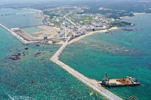 Research group finds that earthquake with seismic intensity of 1 may collapse Henoko seawalls