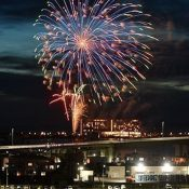 Fireworks in Itoman and Uruma in hopes of an end to the coronavirus pandemic