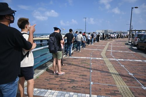 PCR testing in Naha meant to be limited to Matsuyama ends one hour early after an unexpected number of people arrived, causing long lines and traffic congestion