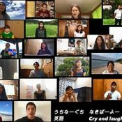 "JICA volunteers sing Shokichi Kina's hit song ""Hana"" in 14 languages"