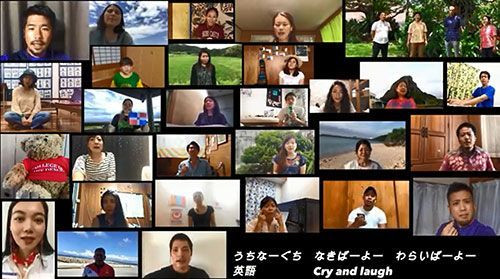 "JICA volunteers sing Shokichi Kina's hit song ""Hana"" in 14 languages"