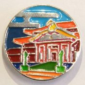 "Okinawa Association of Corporate Executives releases ""Shuri Castle Badge"" for sale, saying they, ""want to build momentum for reconstruction"""
