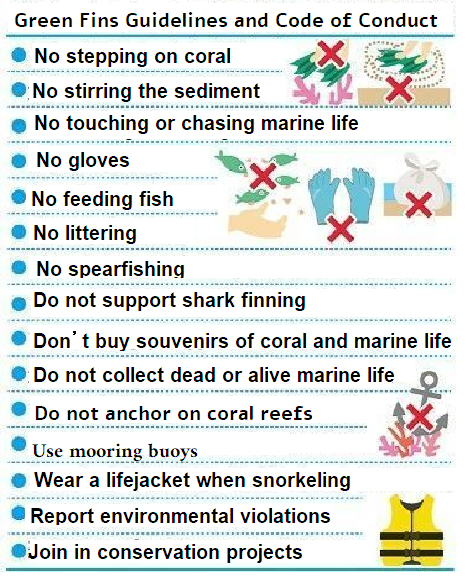 """""""No stepping on coral,"""" """"No feeding fish,"""" Onna implements international environmental standards for diving"""