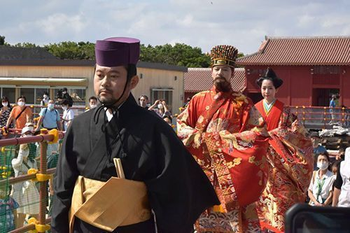 King and queen kick off Shurijo Castle Festival one year after fire