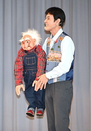 "Ikkokudou talks about becoming a ventriloquist in guest lecture at Ginoza Junior High School, ""When your dreams change, it is progress"""