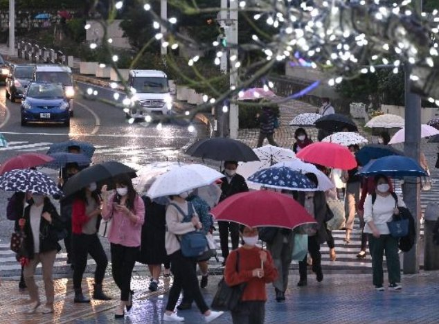 Umbrellas 'bloom' in December skies: Expect more gloom and rain next week
