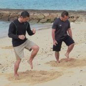 Using beach sand and water as a training tool: Okinawa Prefecture produces Karate video