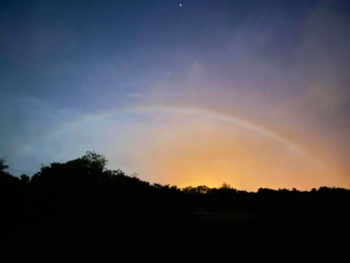 """""""Moon rainbow"""" arc in the night sky--an omen of happiness? Previously unrecorded in Okinawa Island"""