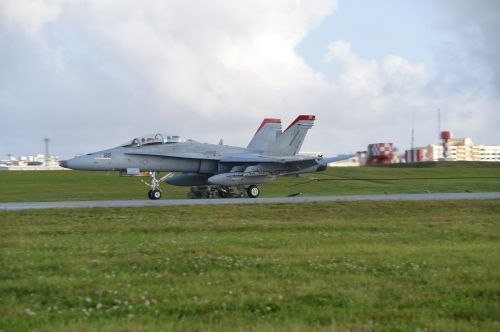 FA18 jets fly at MCAS Futenma 25 years after return agreement, harm continues with 115 decibel noise