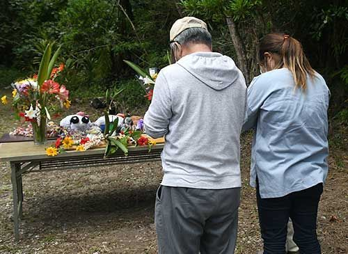 People mourn victim killed five years ago by man in U.S. military employ, pray for no recurrence