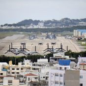 MV22-Osprey repeatedly flies out of Futenma Airfield after 11p.m., causing noise pollution