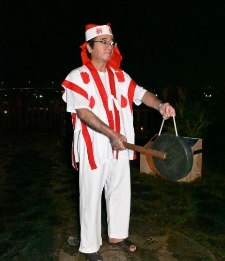 Itoman Hari cancelled for second-straight year, opening night gong-ringing prays for end to pandemic and safety at sea