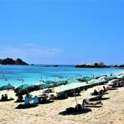 Despite requests not to visit, the Tokashiki beaches see a constant stream of tourists