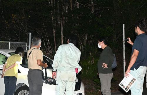 Okinawa Prefecture and the Ministry of the Environment patrol Yambaru forest to stop poaching